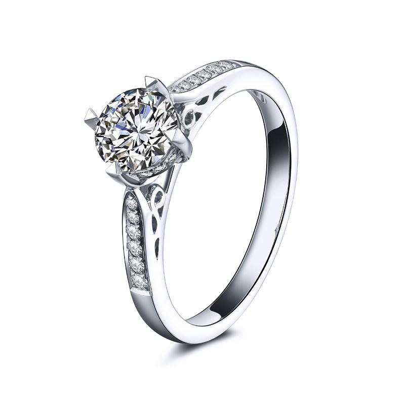 伯爵 白18K金钻石女戒 结婚钻戒