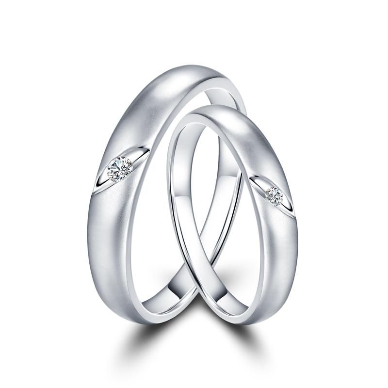 牵梦 18K金钻石对戒 结婚钻戒