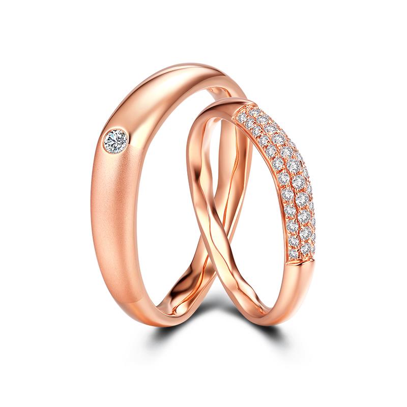 恒久爱-初恋 18K金钻石对戒