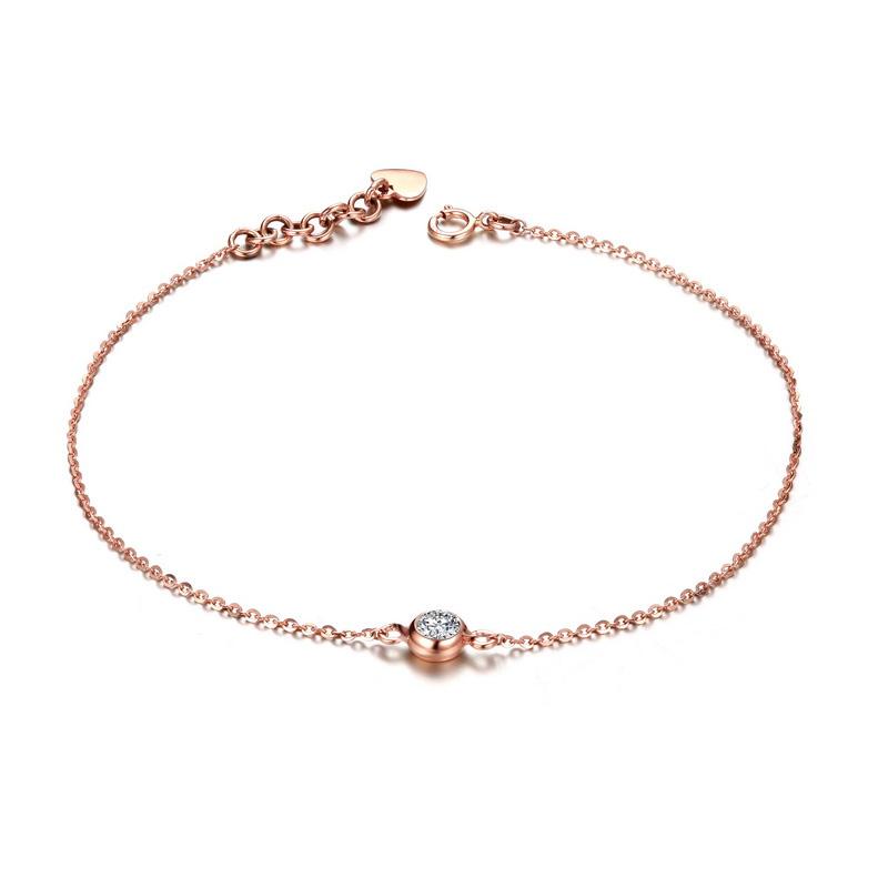 天使光环 玫瑰金钻石手链 时尚饰品 钻饰