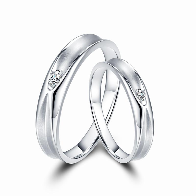 唯爱 18K金钻石对戒 结婚钻戒