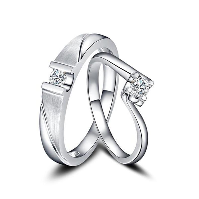 承诺 18K金钻石对戒