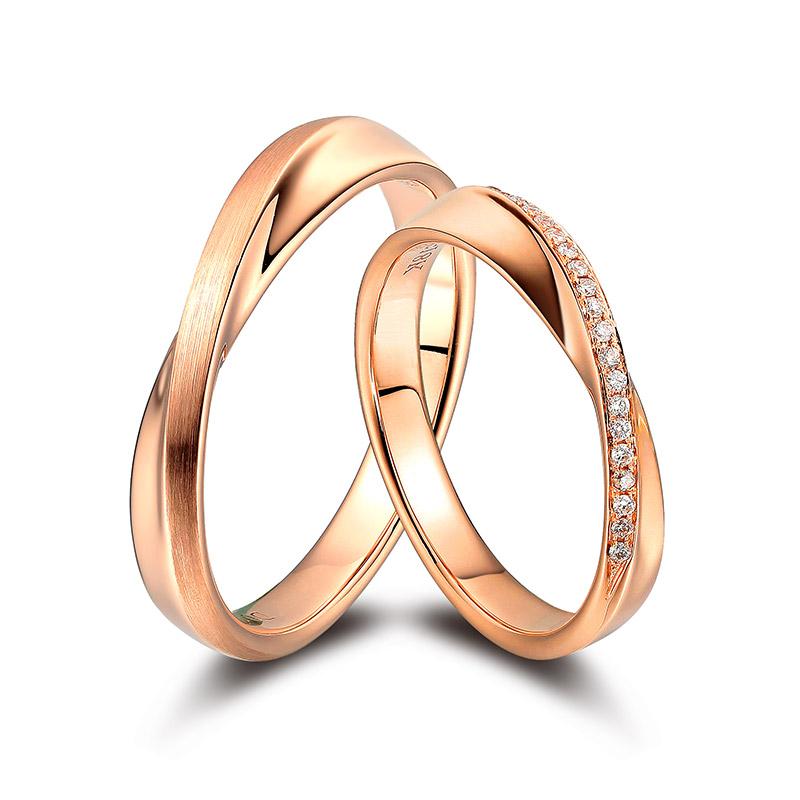 生生世世 18K金钻石对戒 结婚钻戒