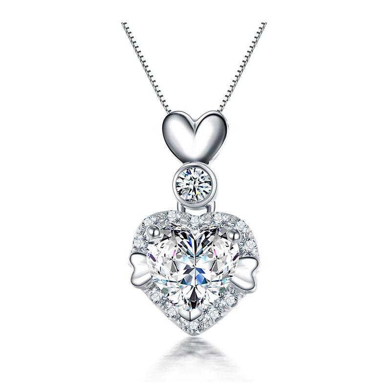 爱情告白 18K金心形钻石吊坠