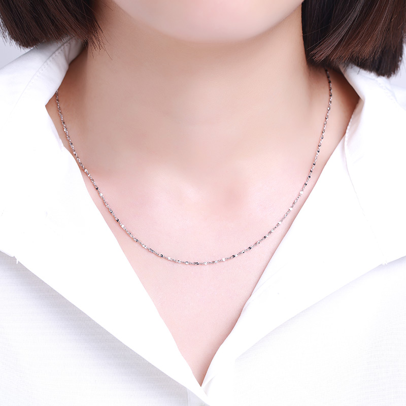 满天星 PT950铂金18寸项链H