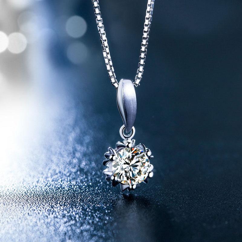 天鹅湖系列 白18K金钻石吊坠 yo...