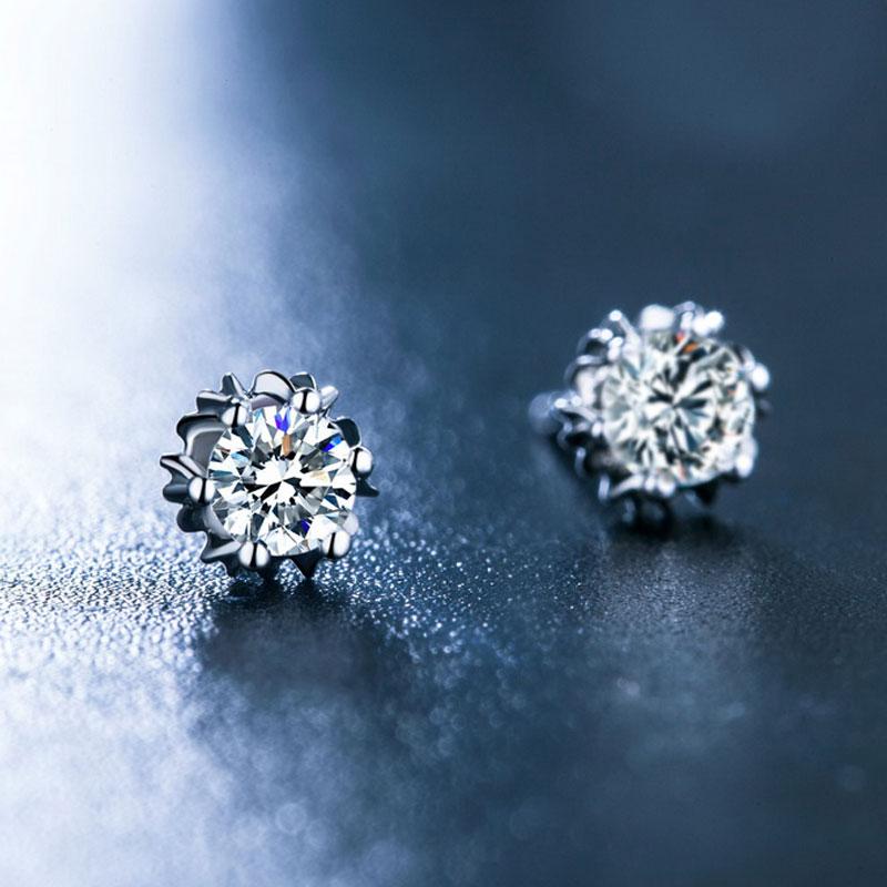天鹅湖系列 白18K金钻石耳钉 时尚...
