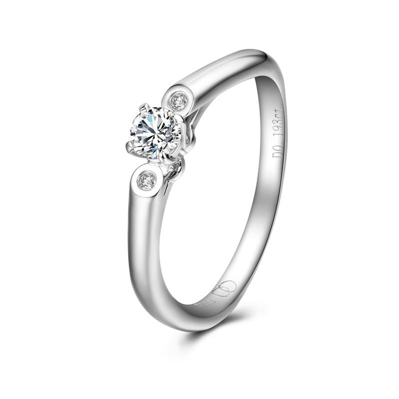 天生一对系列-梦幻芭蕾 18K金钻石女戒 结婚钻戒
