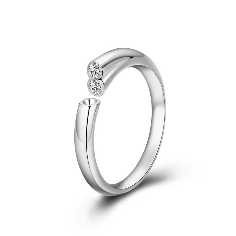 天生一对系列-天籁 18K金钻石女戒 结婚钻戒