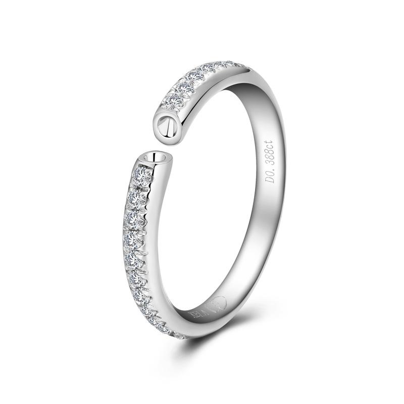 天生一对系列-星光 18K金钻石女戒 结婚钻戒