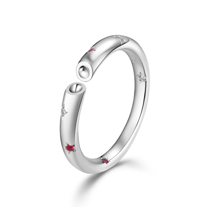 天生一对系列-星晴 18K金钻石女戒 结婚钻戒