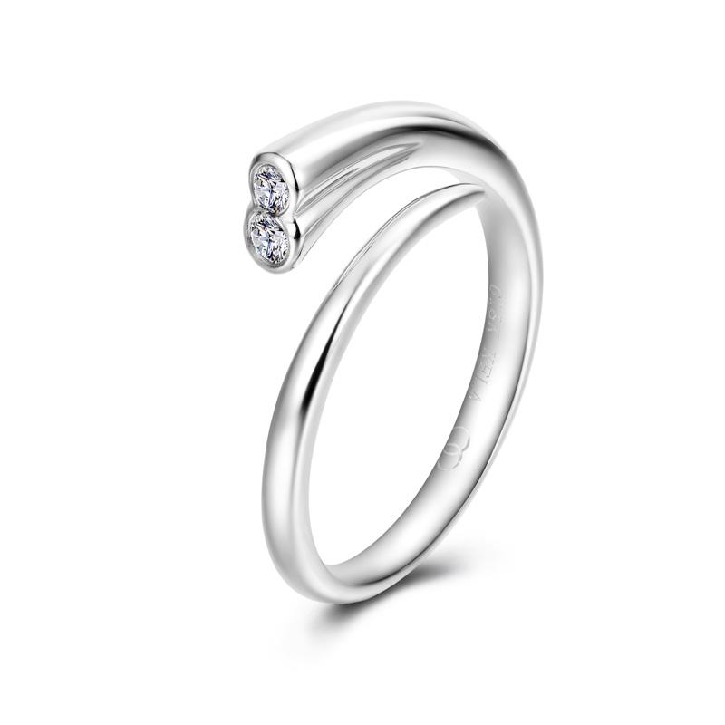天生一对系列-旋律 18K金钻石女戒 结婚钻戒