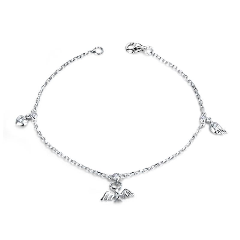 天使之翼 白18K金钻石手链 时尚饰品 钻饰