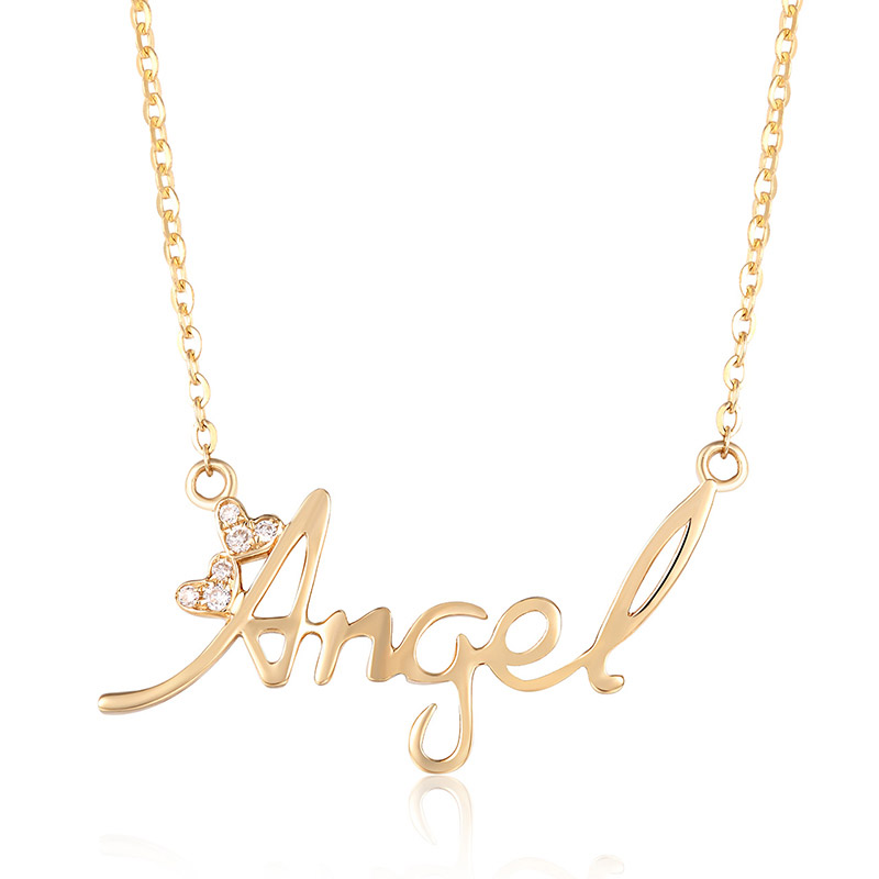angel 18K金钻石套链